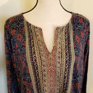 Lucky Brand Tops - SOLD New Lucky Brand Plus Mixed Print Tunic